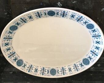 Johnson Bros Snowhite ENGADINE pattern platter