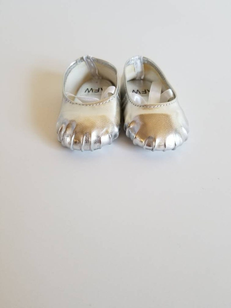 pirple Ballerina Slippers for 18 inch dolls by The Glam Doll- black and silver pink