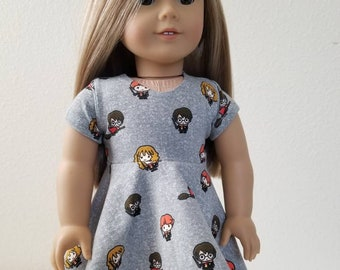 Harry Potter Characters Skater Dress for 18 inch dolls by The Glam Doll