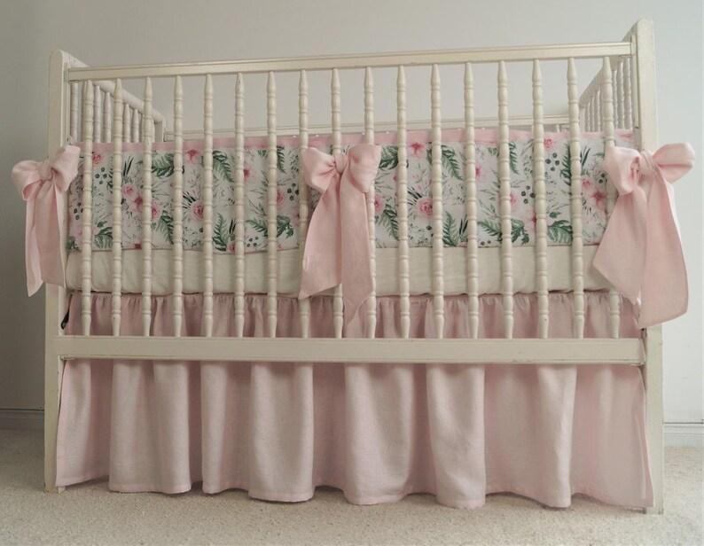 Mädchen Kinderbett Bettwäsche Leinen Krippe Bettwäsche Etsy