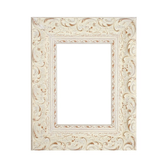 Wood Frame 13 x 18 cm Nika White I Ornamental