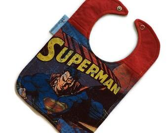 Superman Baby Bib • Superman Tshirt Bib • Baby Shower Gift •