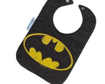 Batman Bib • Upcycled T-shirt Bib • Superhero Bib • Handmade Baby Gift