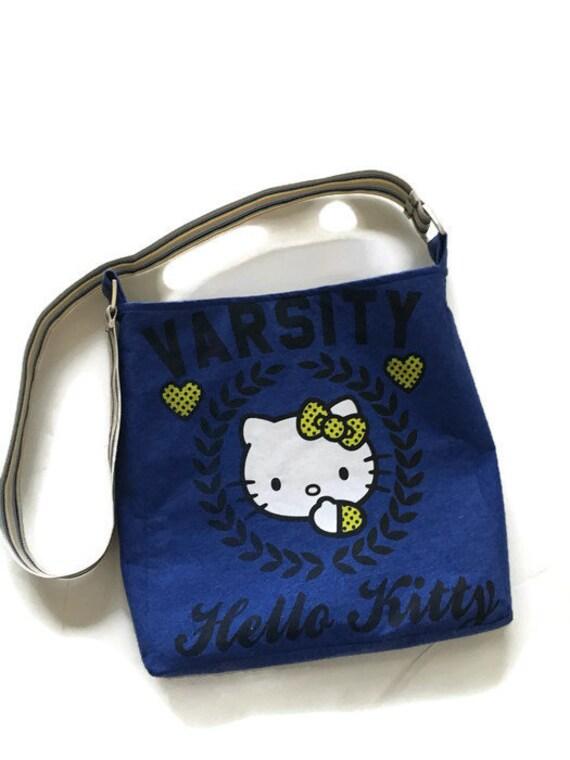 bd9324194 Hello Kitty Upcycled T-shirt Purse Crossbody Bag Recycled | Etsy