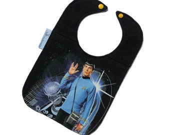Spock Bib • Upcycled T-shirt Bib • Star Trek Baby Bib • Handmade Baby Gift