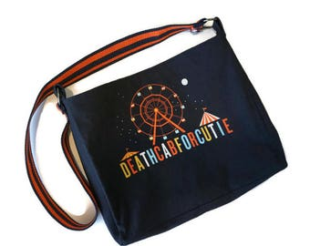 Upcycled T-shirt Bag • Death Cab For Cutie Bag • DCFC Purse • Death Cab For Cutie Tshirt Bag • Death Cab For Cutie Gi