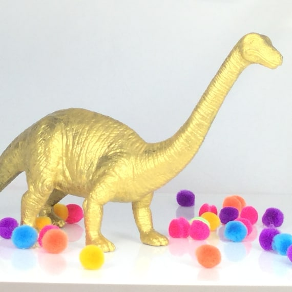 Diplodocus Long Neck Dinosaur End And Gold Great For Children Decor