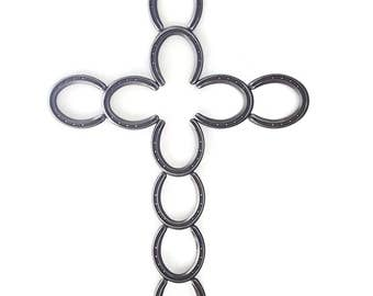 Rustic Horseshoe Cross - The Heritage Forge