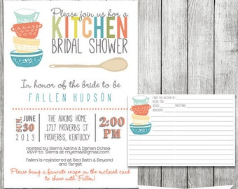 Stock the pantry etsy kitchen bridal shower invitation and recipe card digital file filmwisefo