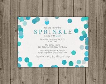 Baby Boy Sprinkle Shower Invitation - Glitter Confetti Baby Shower Invitation - Baby Shower Sprinkle Invitation - 5x7 JPG DIGITAL FILE