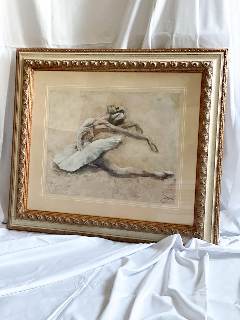 Ballet Sketch Beckindale Fine Arts Framed Print