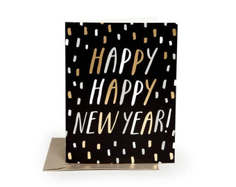 happy new year cards new year boxed card set happy new year boxed cards gold foil silver foil new years party invitations