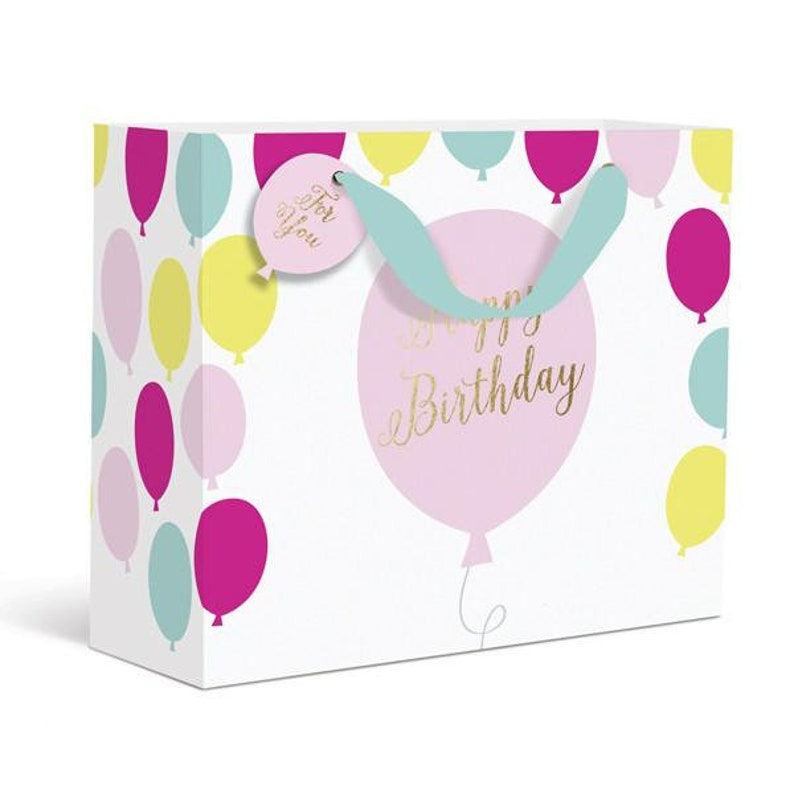 Birthday Balloons Gift Bag Small 6x
