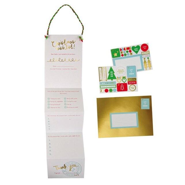 Christmas Wish List, Letter to Santa, Meri Meri, Wish List for Santa, Kids' Christmas List for Santa