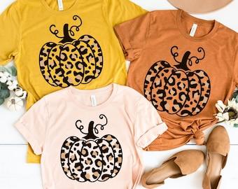 Fall Shirt - Leopard Pumpkin Shirt - Fall Y'all Shirt - Fall Group Shirt - Fall Mom Shirt - Pumpkin Tee - Pumpkin Patch Shirt - Teacher Tee