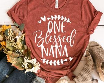 One Blessed Nana Shirt -  Grandma Shirt - Grandma Thanksgiving Shirt - Fall Shirt - Granny Shirt - Grammy Shirt - Gift For Grandma