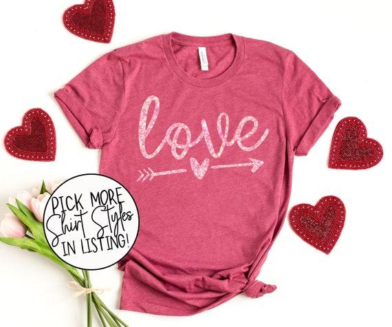 Love Valentine's Shirt  Arrow Love Shirt  Glitter