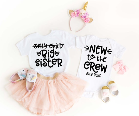 Pregnancy Announcement Sibling Shirt Big Sister Shirt Little