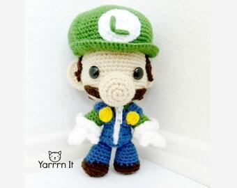 Luigi Sackboy Amigurumi (crocheted stuffed doll)
