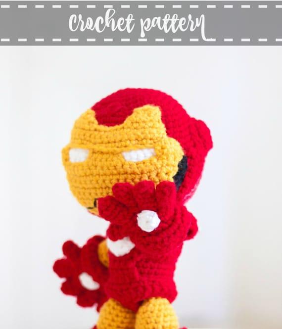 Iron Man Patrón al crochet en formato PDF en INGLES de YarrrnIt en ...