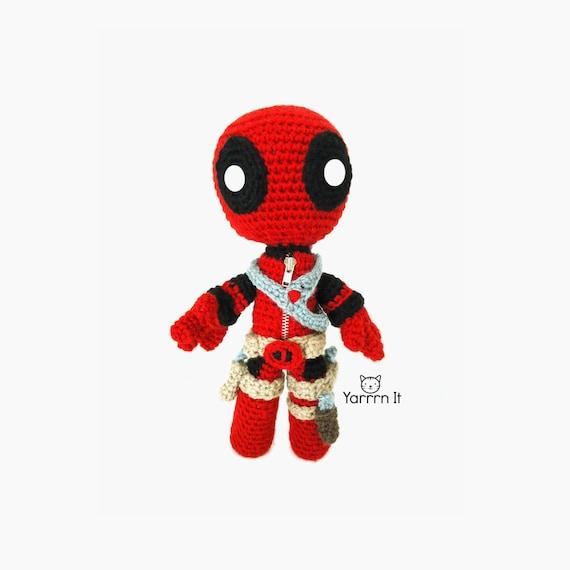 Deadpool Sackboy Amigurumi muñeco tejido al crochet Envío | Etsy