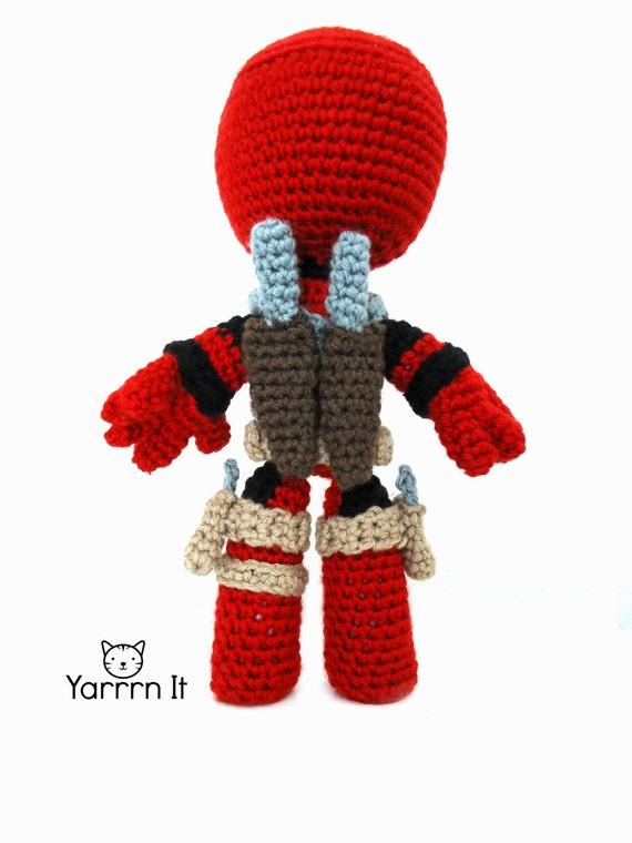 Deadpool Sackboy Amigurumi Puppe Häkeln Kostenlose Versand Etsy