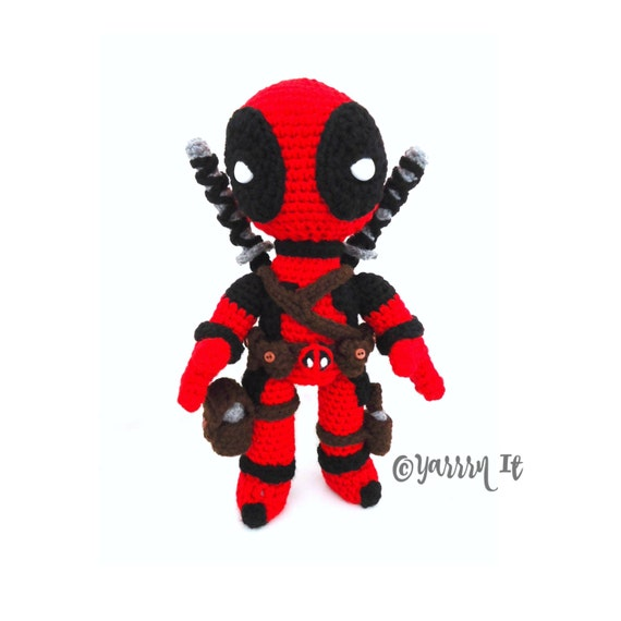 Deadpool inspirado amigurumis ganchillo muñeca elegir | Etsy