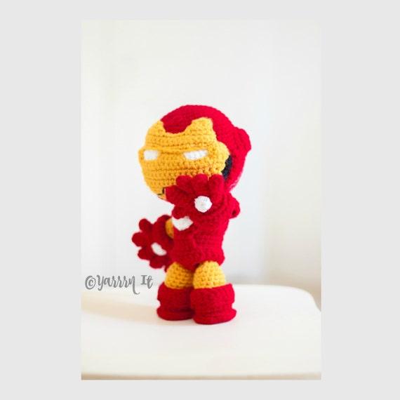 Ironman Amigurumi muñeco tejido al crochet ENVIO GRATIS