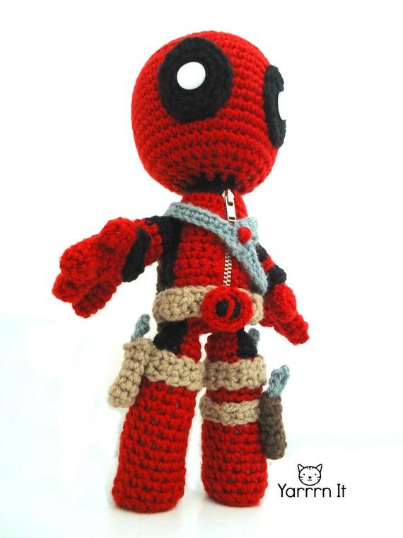 Deadpool Sackboy Amigurumi Puppe häkeln kostenlose Versand | Etsy