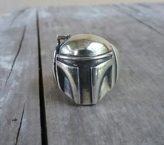 Boba Fett,star wars ring,solid sterling silver,