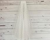 Ivory flock spotty, cut edge, 2 tier veil, your choice of length