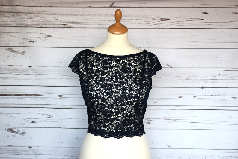 Capped sleeve lace top overlay bridesmaid or wedding guest image 0