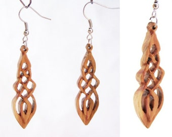 Earrings from lilac wood