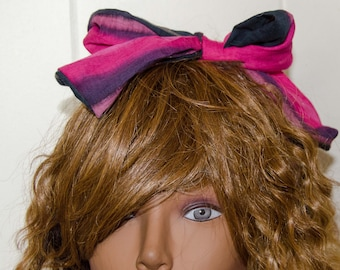 Gold Dolly Bow / Hair Wrap, Hair Scarf, Head Band  Measures 35 inches by 2 inches