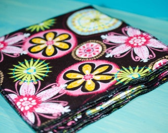Flannel Family Cloth -2 Layers/Do Everything Cloth/Dish Cloth/Baby Wipe/ Cleaning Cloth/Wash Cloth/Napkin - 8 Each 8 x 8