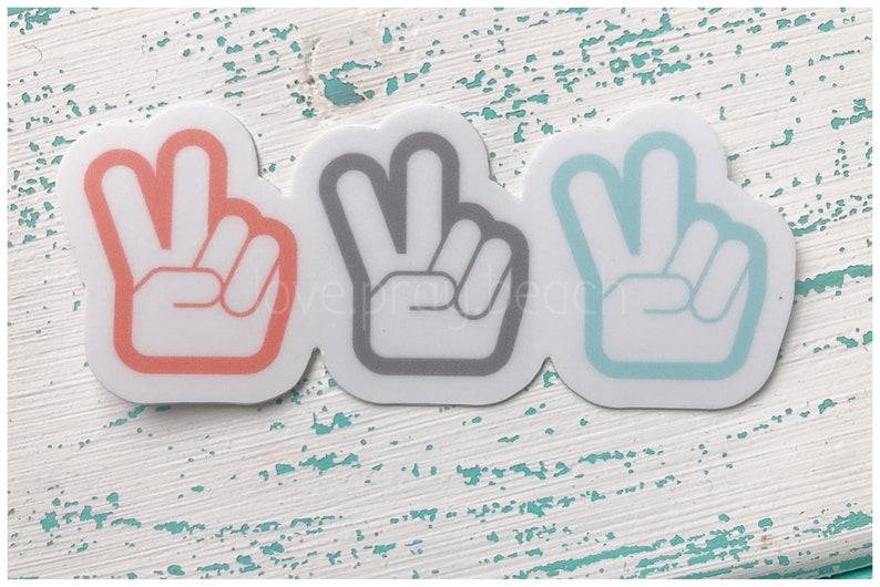 FREE SHIPPING Peace Vinyl Sticker image 0