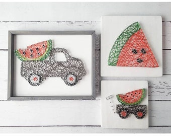 FREE SHIPPING Watermelon String Art