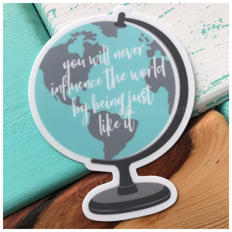 FREE SHIPPING Influence The World Vinyl Sticker image 0