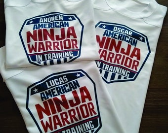 649b576abc510e American Ninja Warrior Kids T-Shirt (Youth Large Only)