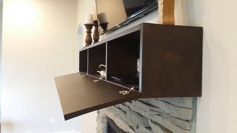 Cool Custom Fireplace Mantel With Drop Front Shelf Media Storage Hidden Storage For Media Components Fireplace Mantels With Component Storage Download Free Architecture Designs Parabritishbridgeorg