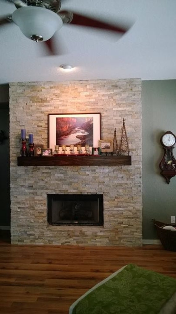 Seven Foot Modern Rustic Fireplace Mantel 84 Inch Mantel Etsy