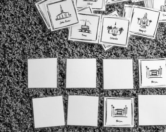 LDS Temple Memory Game, Part 1 - INSTANT DOWNLOAD