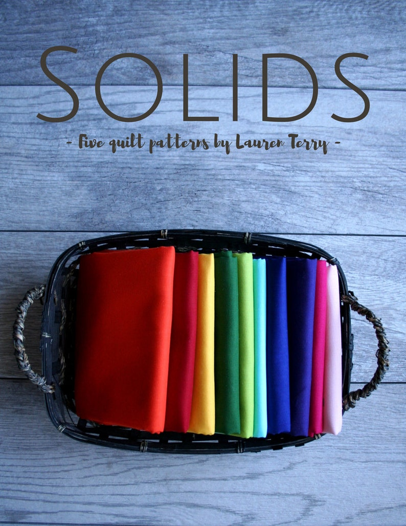 Solids: Five Quilt Patterns by Lauren Terry an eBook image 0