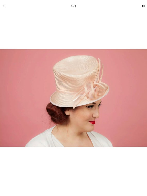 Blush pink formal hat