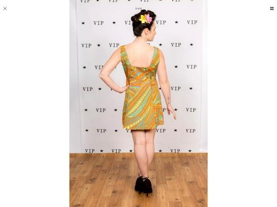 Rare vintage 60s pscychedlic pattern mini dress - image 6