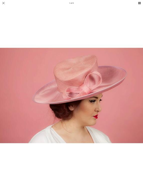 Oversized pink formal hat
