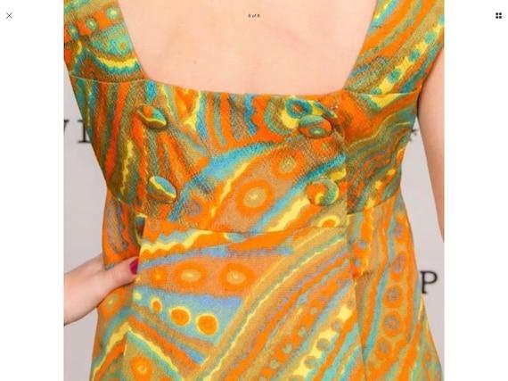 Rare vintage 60s pscychedlic pattern mini dress - image 7