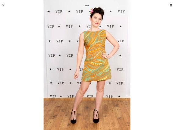 Rare vintage 60s pscychedlic pattern mini dress
