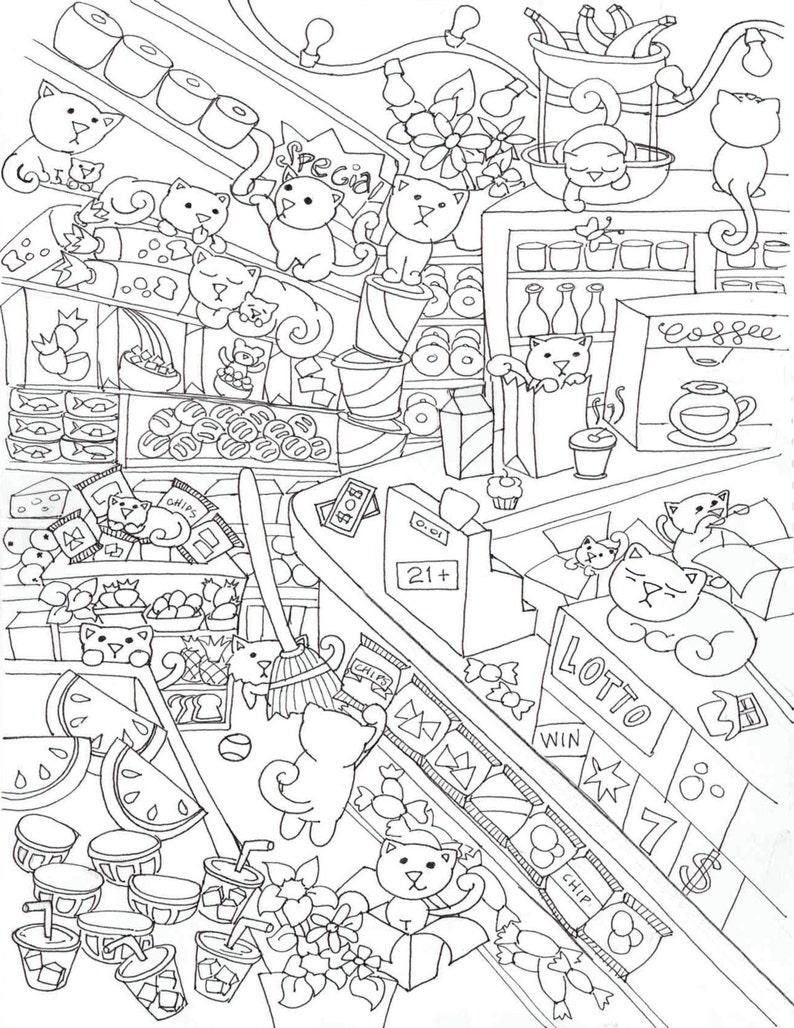 Koty Bodega Kolorowanie Plakatu Drukowanie Plakatu Działalnościkot Plakatkolorowanki Strona