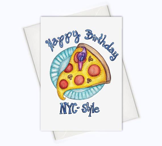 Nyc style birthday card city birthday card birthday pizza etsy image 0 m4hsunfo